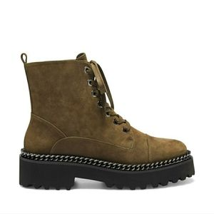 Vince Camuto Mindinta High Suede Boot Greek Olive